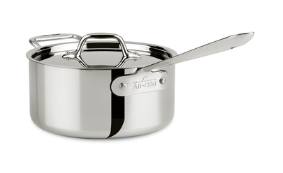 All Clad D3 Stainless 2 Qt Sauce Pan 4202
